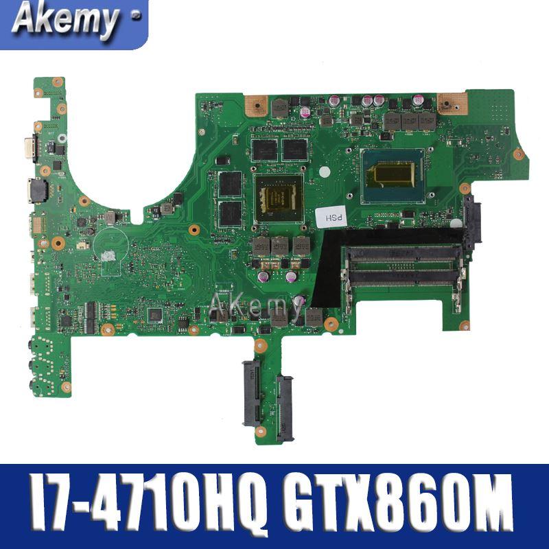Amazoon  ROG G751JM Laptop Motherboard For ASUS G751JM G751J G751 Test Original Mainboard I7-4710HQ GTX860M