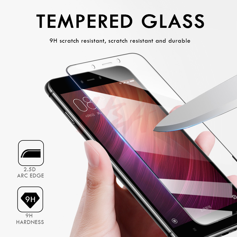 Image 2 - H&A 3Pcs Protective Glass for Xiaomi Redmi Note 4 Note 4x Screen Protector 9H 2.5D Tempered Glass Note 4 Global Version-in Phone Screen Protectors from Cellphones & Telecommunications