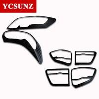 2012-2014 для Toyota Аксессуары для Fortuner черные комплекты фар задние фонари Накладка для Toyota Fortuner Hilux Sw4 2013 запчасти Ycsunz