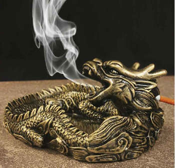 Creative Domineering Chinese dragon resin ashtray Classic dragon ashtray Office Home Resin Decoration