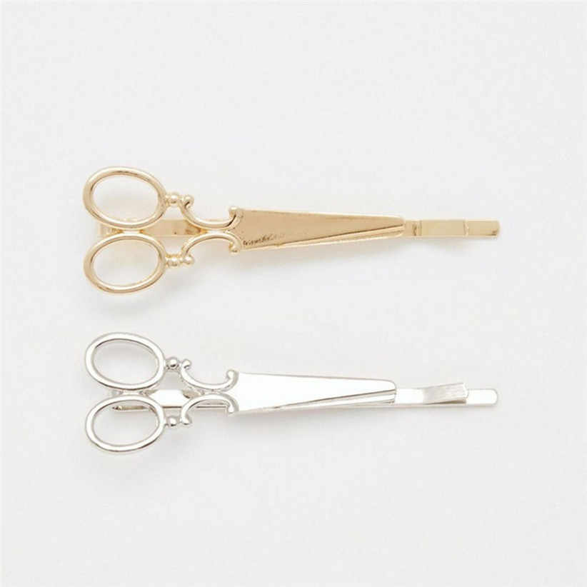 Newly Arrival Fashion Cheap Hair Clip Hair Accessories Headpiece Hairpin scissors Headwear Gold Silver Best Selling 160419