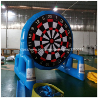 Airtight double faced 3m height inflatable foot dart board, inflatable soccer dart games for kids and adults