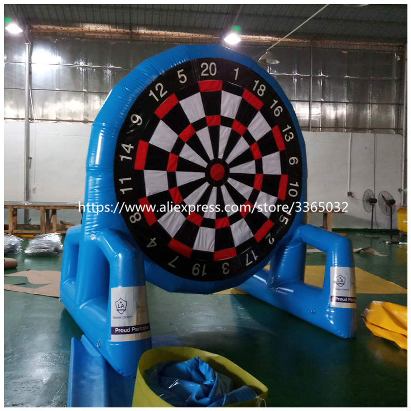Airtight double-faced 3m height inflatable foot dart board, inflatable soccer dart games for kids and adults customized 3x1x2 5 meters inflatable dart game high quality inflatable dart board for adult and kids toys