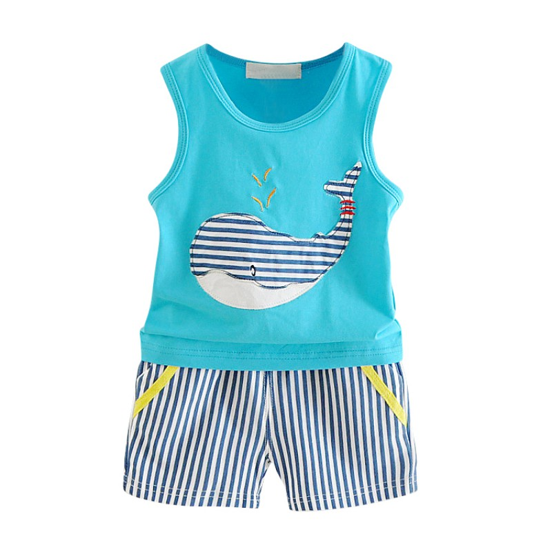 Baby Boy Clothes Summer Cute Cartoon Newborn Clothes O-Neck Top+Short Pant Infantil Boys Clothing Set 2018