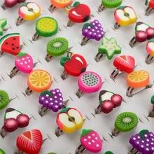Оптовая продажа 10 шт смешанных цветов милые детские кольца