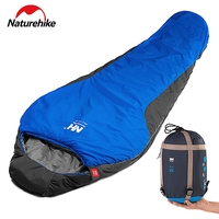 Naturehike Lengthened Camping Splicing Mummy Sleeping Bag Waterproof Adult Portable Outdoor Hiking Bags Cotton Lining 220