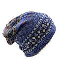 Топ Мода 4 Цвета Вязать Два Используется Женщин Шляпа Шарф Салон теплая Осень Женские Шляпы Шапка Новый Повседневная Шапочки Skullies Бесплатная Доставка