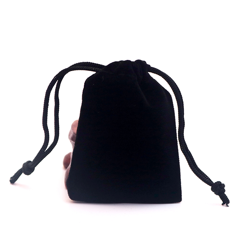 Wholesale Black Velvet Bags 5x7cm 7x9cm 9x12cm 10x16cm 15x20cm Cheap Velvet Drawstring Bag Jewelry Packaging Storage Bag