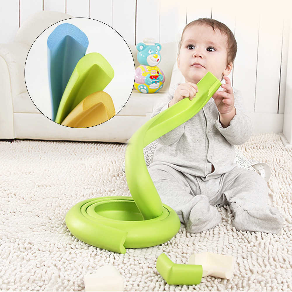 Child Protection Corner Protector Baby Safety Guards Edge Corner Guards Solid Angle Stair Furniture Edge Corners Security Strap
