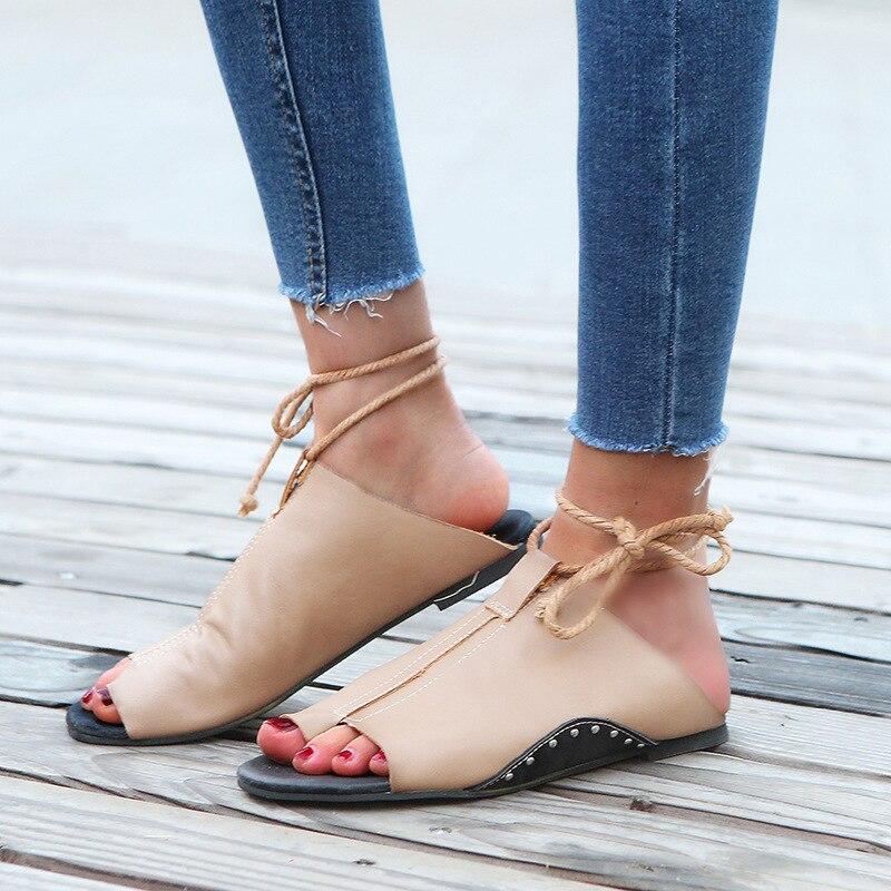34d3f54e5e Color Zapatos Mujer Lujo Damas Diapositivas Oficina Diseño Flat Zapatillas  Gladiator Casual Señora Partido De Sandalias Color photo Roma Black Marca  ...