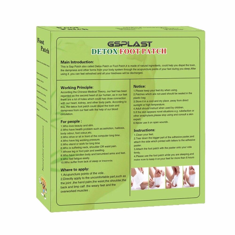 1 коробка = 10 шт. завод бамбуковый Детокс пластырь для ног с клейкие листы очищающие Пластыри для ног высвобождение токсинов оздоровительный массаж