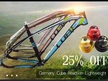 Neue modell Aluminium mountainbike rahmen/15 modelle (deutschland CUBE REAKTION) 26/27,5/29 zoll leichtgewicht lang fahrradträger