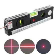 4 в 1 лазерный уровень выравниватель Вертикальные Горизонтальные лазеры Точная маркировочная линия строительный инструмент с фиксирующей сантиметровая лента, измерительная линейка
