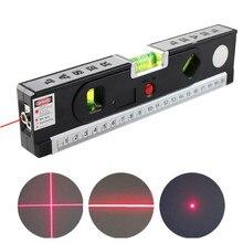 Alinhador de nível laser 4 em 1, óculos horizontais vertical preciso, linha de marcação, ferramenta de construção com régua de travamento