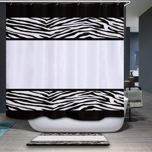 New Arrivals Home Decorative Shower Curtain Simple Korean Style Geometry Pattern Waterproof Bathroom Fabric