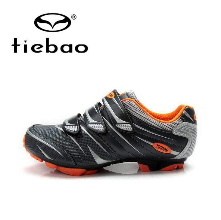 ФОТО Tiebao Professional Bicycle Cycling Shoes Men Women MTB Mountain Bike Self-Locking Shoes Nylon-Fibreglass Sole Athletic Shoes