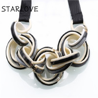 Choker New Casual Fashion Handmade Collar Round Retro Vintage Alloy Leather Pendants Necklace For Women Jewelry