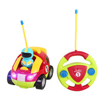 HIINST Lovely RC Cartoon Race Car With Music And Lights Electric Radio Control Car Funny Toy