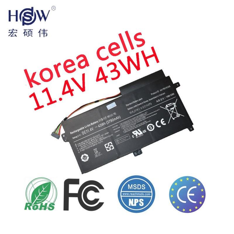 HSW Batterie D'ordinateur Portable pour Samsung AA-PBVN3AB AA-PBVN3AB NP470R5E 510R batteries BA43-00358A batterie pour ordinateur portable 1588-3366 batterie