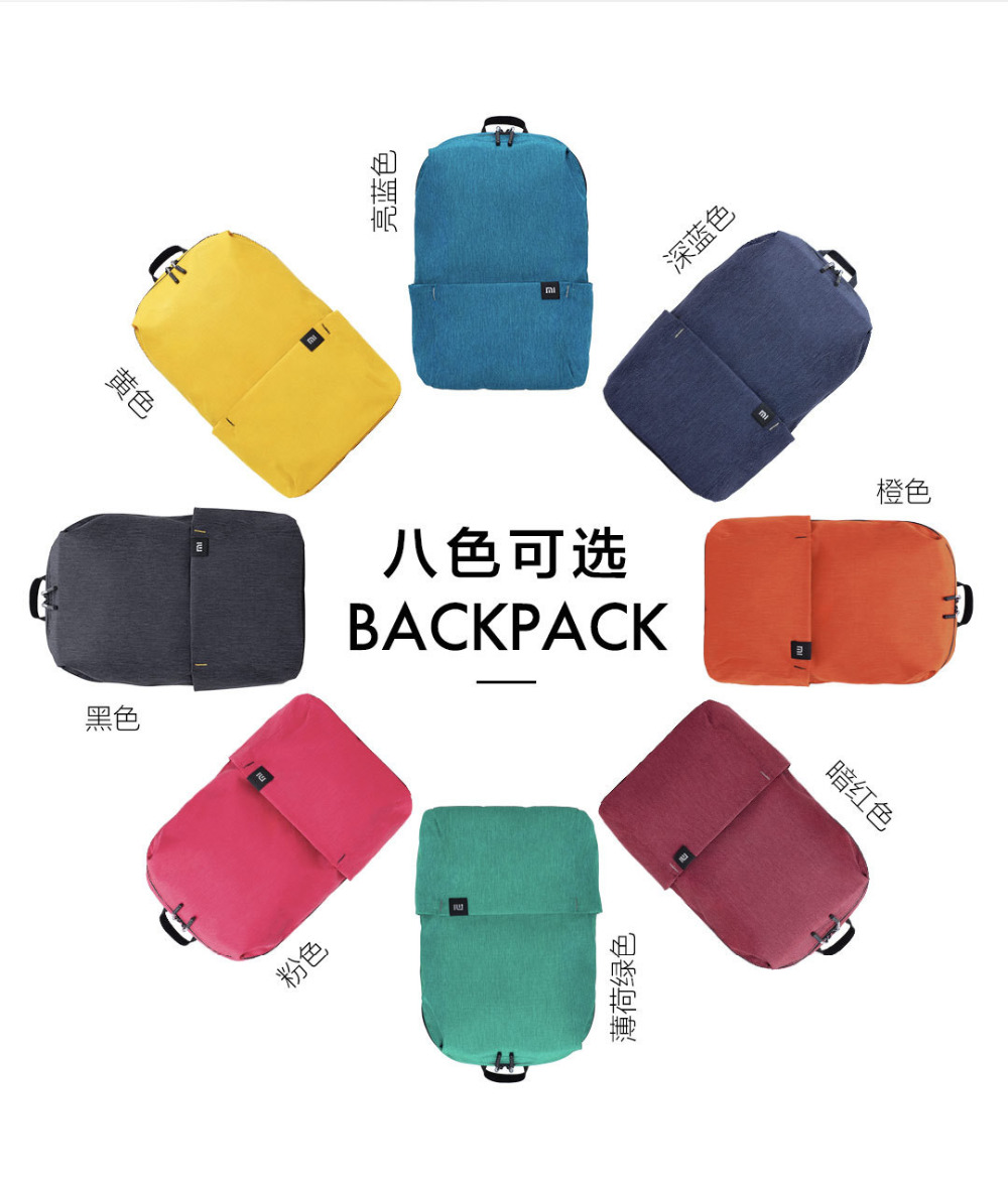 Original Xiaomi Mi Backpack 10L Bag Urban Leisure Sports Chest Pack Bags Men Women Small Size Shoulder Unisex Rucksack bolsa (7)