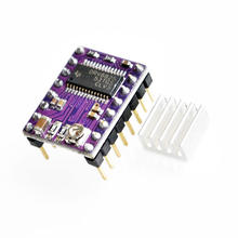 3D Printers Parts New Stepstick Drv8825 For RAMPS Stepper Motor Driver HeatSink Part Heat Sink 4 Layer PCB Purple Board(China)