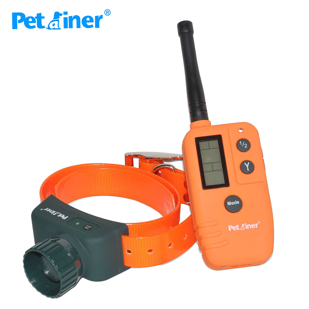 Petrainer 910B 500M remote control Rechargeable and Waterproof Beeper Collar with Big LCD display-in Training Collars from Home & Garden    1