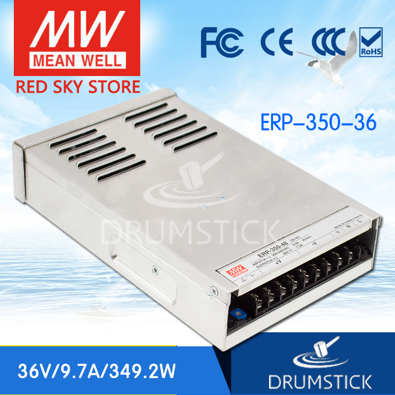 Advantages MEAN WELL ERP-350-36 36V 9.7A meanwell ERP-350 36V 349.2W Single Output Switching Power Supply [Real7] original meanwell nes 350 36 ac to dc single output 350w 9 7a 36v mean well power supply nes 350