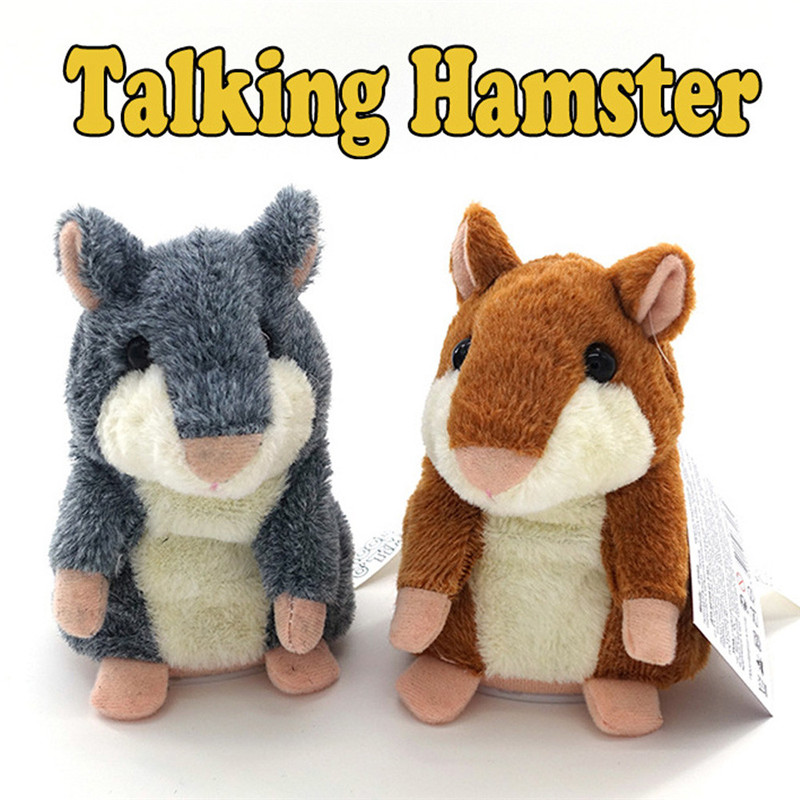 Stuffed Toys Hot Speak Talking Record Nod Hamster Mouse Plush Kids Toy Gifts Stress Reliever Toy DropShipping, Free Ship ,XM30 2018 talking hamster mouse pet plush animals toy hot cute speak talking sound record educational toy for children gift