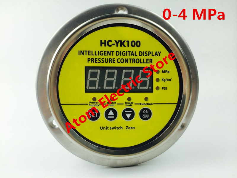 0-4 mpa  AC220V  Digital display electric contact pressure gauge digital controller 0 16 mpa ac220v digital display electric contact pressure gauge digital controller