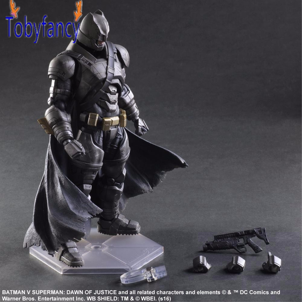 Batman Action Figures Play Arts Kai Batman v Superman Dawn of Justice Anime Collectible Model Toy Heavily-armored Playarts Kai play arts kai batman v superman dawn of justice no 3 armored batman pvc action figure collectible model toy 25cm