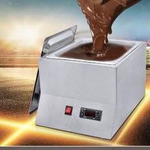 Плавильные котлы для шоколада коммерческий одиночный горячий шоколад окунание плавильная машина цилиндр Электрический подогреватель плавления 1 решетки