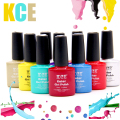 KCE 83 Colors Free Shipping Nail Gel Polish Gel Long-lasting Shining Colorful Soak-off Gel Nail LED UV 7.5ml Nail Gel Women