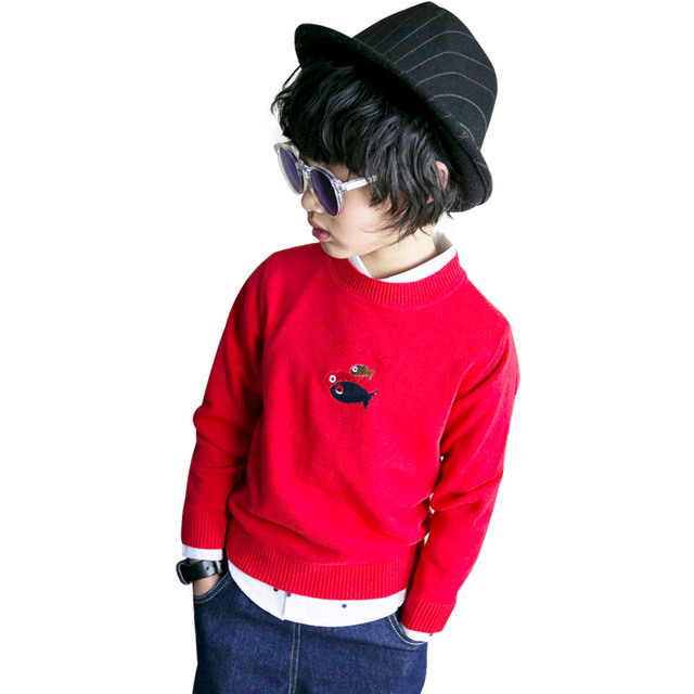 The Chinese children children sweater 2017 new spring Kids Boys T-shirt sweater sweater 6505