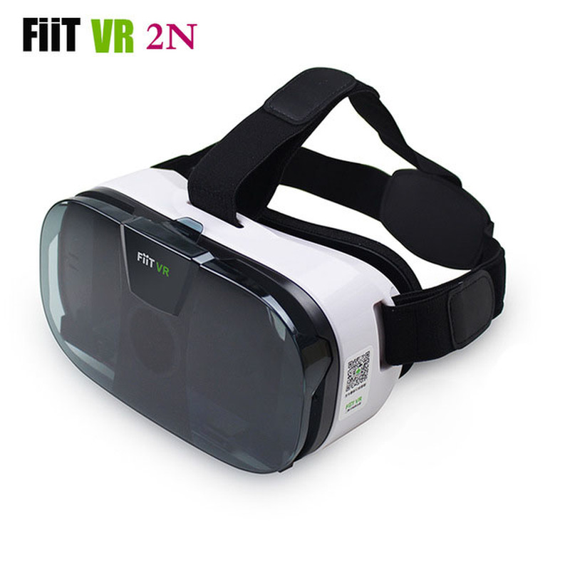 FIIT 2N VR Glasögon Headset 3D Box Virtual Reality Glasögon Mobile 3D Video Hjälm för 4,0-6,5 Telefon + Smart Bluetooth Controller