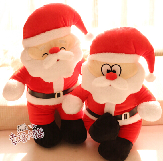 Christmas Day Gift for kids 1pc 35cm kindly warm Santa Claus plush doll pillow novelty romantic girl stuffed toy