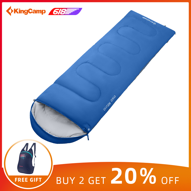 KingCamp Ultralight Sleeping bag Envelope Type Winter Cotton Adult  Outdoor Travel Hiking Sleeping Bag Large Size saco De Dormir