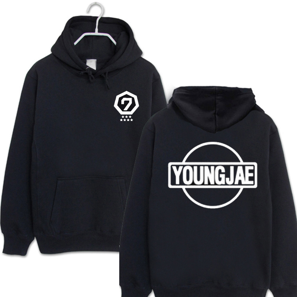 GOT7 same paragraph keep warm Hoodies kpop men and women autumn and winter printing sweatshirts Korea Harajuku wind tops