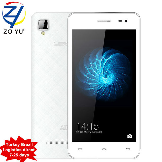 In Stock Leagoo Alfa 6 Smartphone Android 4.4 MTK6582 Quad Core 4.5 Inch 1.3GHz 1GB RAM 8GB ROM 5.0MP 3G WCDMA Mobile Phone