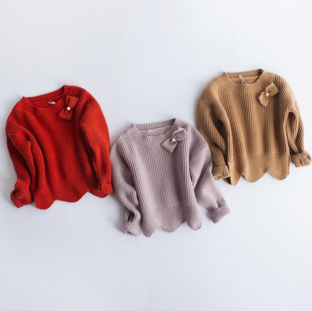 Baby girl Moda Suéter Suéter 2016 Niños Del Resorte de Manga Larga Chaqueta de Géneros de punto de Lana Bebé Suéter Ropa de Los Cabritos