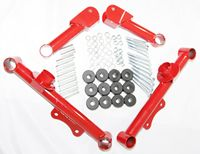 Racing Rear Upper + Lower Tubular Control Arms fit for 79 04 Ford Mustang GT LX Red