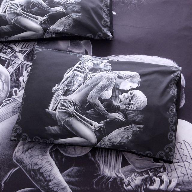 BEAUTY SKULL 3D BEDDING SETS