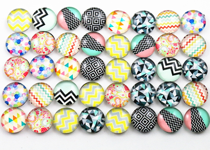 New Fashion Hot Sale 50pcs 8mm and 10mm Two Size Mixed Handmade Lines Photo Glass Cabochons  New Fashion Hot Sale 50pcs 8mm and 10mm Two Size Mixed Handmade Lines Photo Glass Cabochons