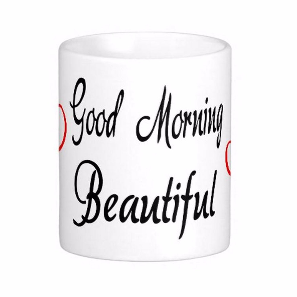 Good Morning Beautiful Red Heart Love White Coffee Mugs Tea Mug Customize Gift By LVSURE Ceramic Mug Travel Coffee Mugs