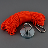 D67mm 200Kg Strong Neodymium Magnet Power Round Recovery Fishing Magnet Fixture Antenna Magnetic Material Bases with 10m Rope