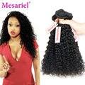 Mesariel Продукты Волос 9А Перуанский Девы Волос 4 Связки Kinky Вьющиеся Человеческих Волос Дешево Перуанский Волосы Соткать Странный Вьющиеся