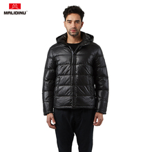 MALIDINU New Winter Down Jacket Men Warm Coat 70%White Duck Russian Mens Fashion Casual Black