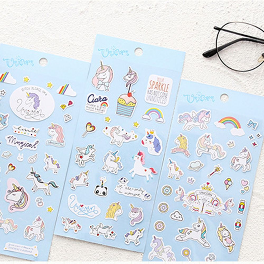 1 Sheet Mini Cute Unicorn Paper Sticker Kawaii Stationery Creative Decoration DIY Album Diary Scrapbooking Label Sticker