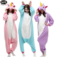 Christmas Adult Onesie Unicorn Pyjama Sets Women Pajamas Adults Cosplay Cartoon Animal Cute Onesies Sleepwear Blue