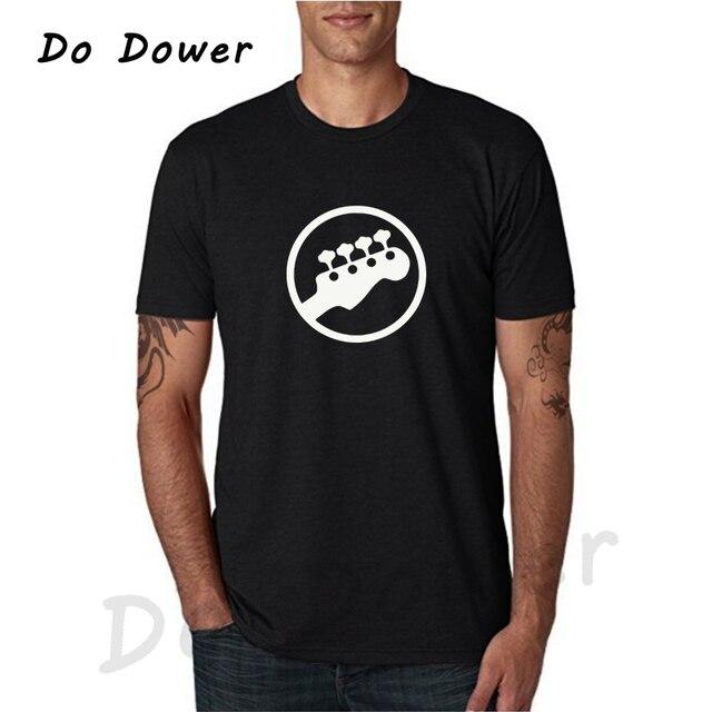 65e0f6c2b 2018 Bass Headstock Guitar Symbol Guitarist Player Musicians Logo Music  Rock Funny T Shirt Tshirt Men Cotton Short Sleeve Tees