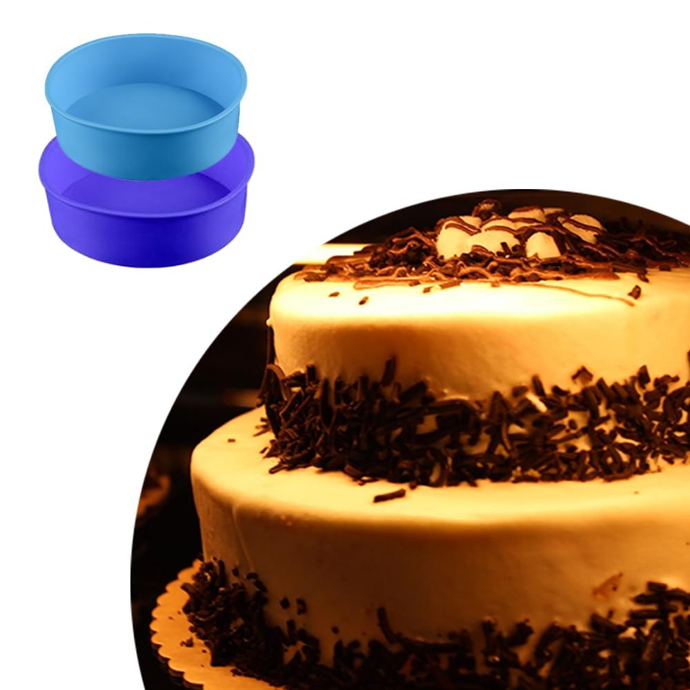 2 слоя круглые силиконовые формы DIY торт мусс Шоколад Плесень кекса украшения выпечки Кондитерские инструменты 2 шт./компл.